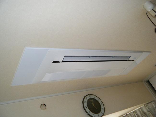 新規取付、天井埋め込み型エアコン